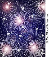 fireworks, fondo, digitale