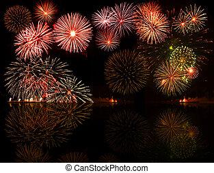fireworks., set, e.g.2012, colorito, testo, oggetto, centro, tuo, buono, numeri, anno, o