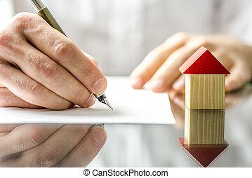firmare, casa, quando, contratto, nuovo, acquisto, uomo