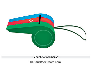 fischio, blu verde, rosso, azerbaijan
