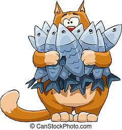 fish, gatto