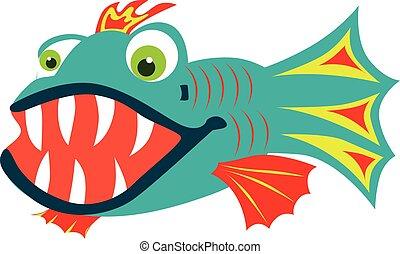 fish, teeth affilato