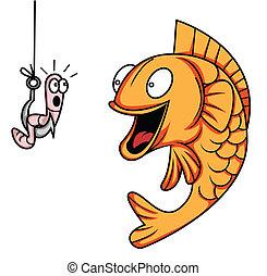 fish, verme