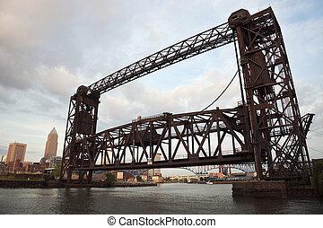 fiume, cuyahoga, ponte