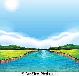 fiume, fluente