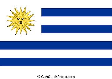 flag., vettore, uruguay, formato