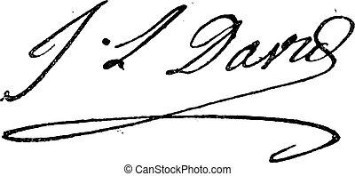 fleury, illustration., (1748-1825), larive, cose, jacques-louis, -, vendemmia, davide, dizionario, inciso, parole, firma, 1895.