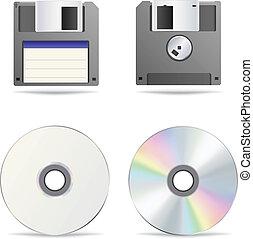 floppy, ottico, disco