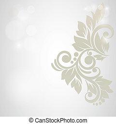 flor, astratto, matrimonio, fondo., invito, floreale, o, scheda