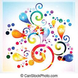 floreale, astratto, colorito