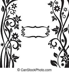 floreale, astratto, cornice