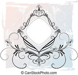 floreale, astratto, ornamento