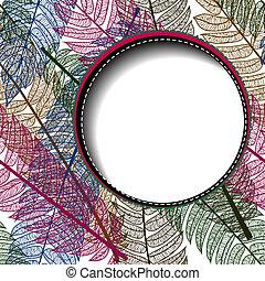 floreale, astratto, text., fondo, spazio