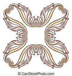 floreale, croce, elemento