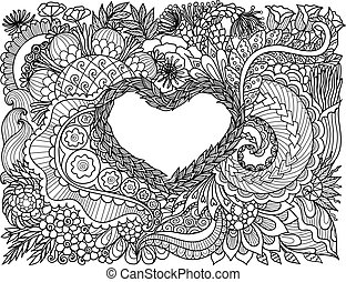 floreale, cuore