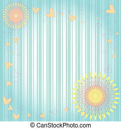 floreale, cuori, cartolina auguri