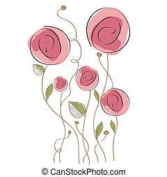 floreale, delicato, fondo