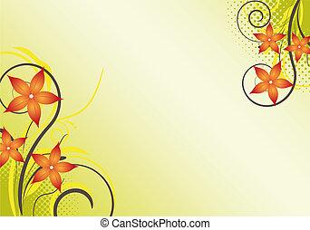 floreale, disegno astratto, fondo