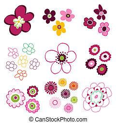 floreale, fiore, elementi