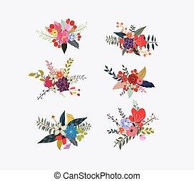 floreale, fiore primaverile, grappoli