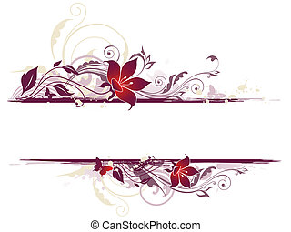 floreale, fiori, fondo, viola