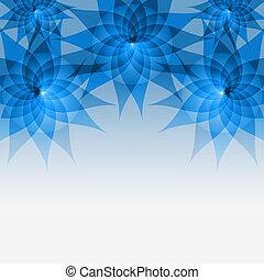 floreale, fondo, astratto, fiori, blu