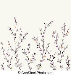 floreale, fondo., elementi, disegno