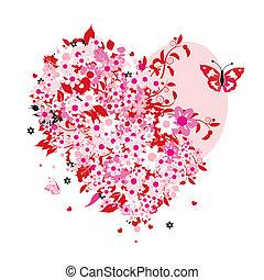 floreale, forma cuore
