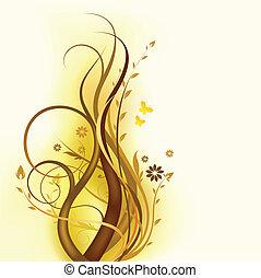 floreale, marrone, disegno