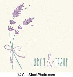 floreale, matrimonio, disegno, invito