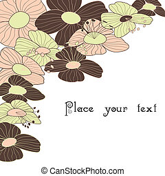 floreale, primavera, cornice, estate