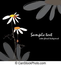 floreale, primavera, estate, coccinelle