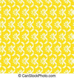 floreale, seamless, giallo, etichette