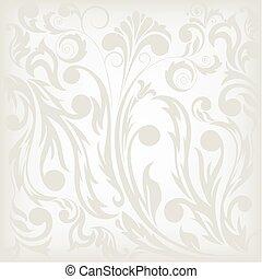 floreale, sfondo grigio