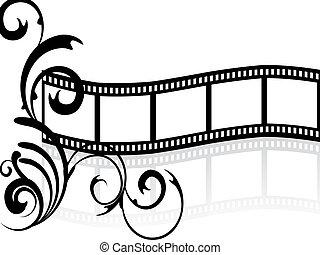 floreale, striscia, film