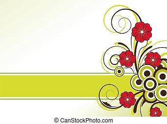 floreale, testo, disegno astratto, zona
