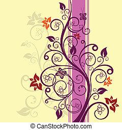 floreale, vettore, disegno, illustrazione