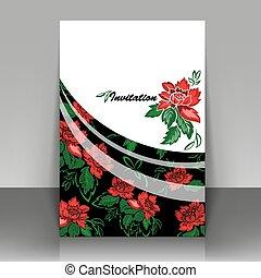 flowers., rosso, invito