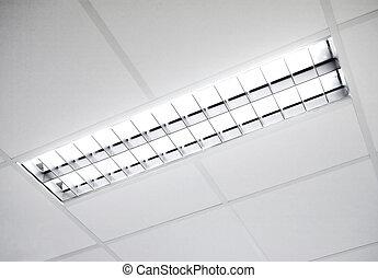 fluorescente, infisso, luce