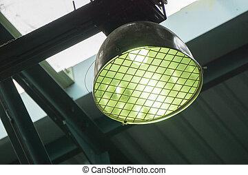 fluorescente, palestra, lampadine
