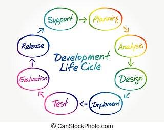 flusso, ciclo vitale, circolare, grafico