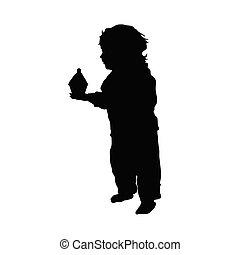 focaccina, illustrazione, bambino