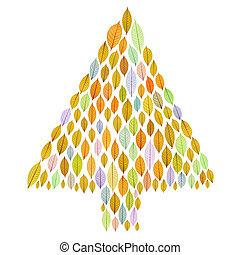 foglia albero, natale, trasparente