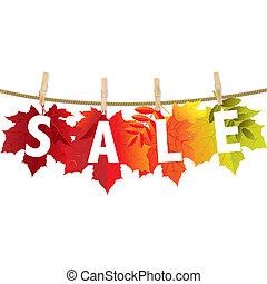 foglia, autunno, vendita