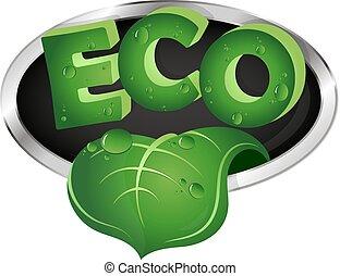 foglia, ecologico, verde, simbolo