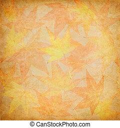 foglia, mosaico, cadere