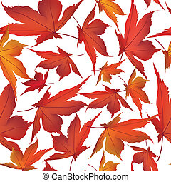 foglia, natura, foglie, pattern., seamless, autunno, fondo., cadere, floreale
