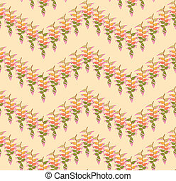 foglia, natura, pattern., foglie, ornamento, seamless, floreale, fondo., turbine