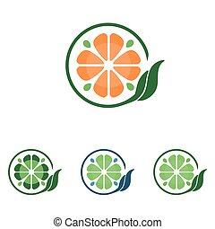 foglia, trifoglio, segno, simbolo, 4, cerchio
