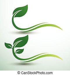 foglia verde, etichette